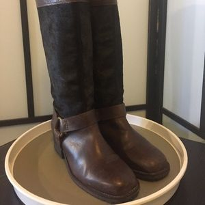 Lucky Brand Leather Knee High Riding Boots Size 6